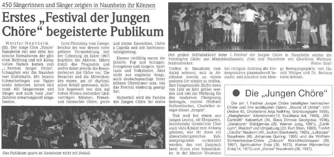 Zeitungsartikel WNZ