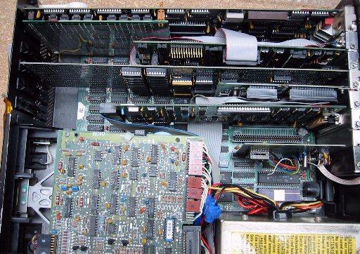 IBM PC-XT Model 5160 von Innen